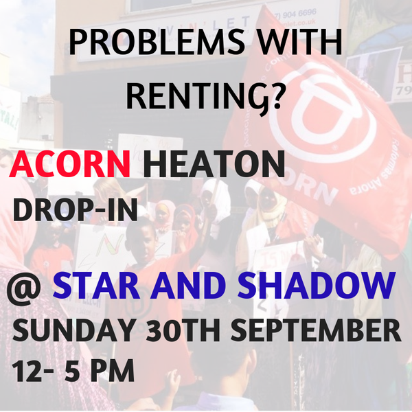 Picture for event ACORN NEWCASTLE : The union fighting for tenants across Geordie Land